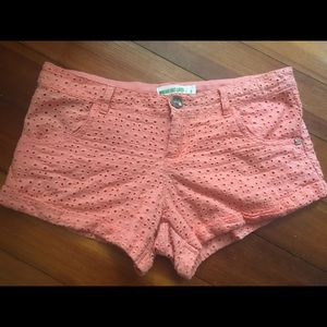 Lace Shorts (Coral) Dream Out Loud by Selena Gomez